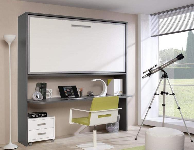 Dormitorio juvenil moderno merino zaidin - Literas con escritorio debajo ...