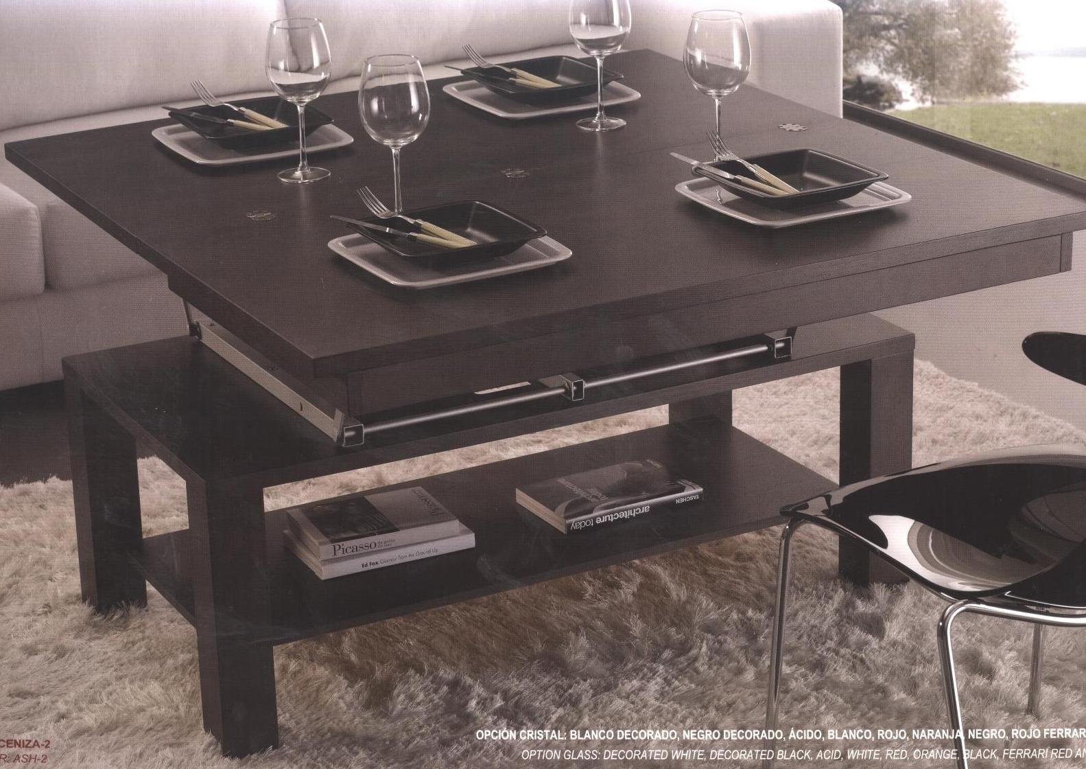 Mesa de centro convertible en mesa de comedor merino zaidin - Centro de mesa comedor ...