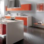 Cocina moderna en acabado brillo