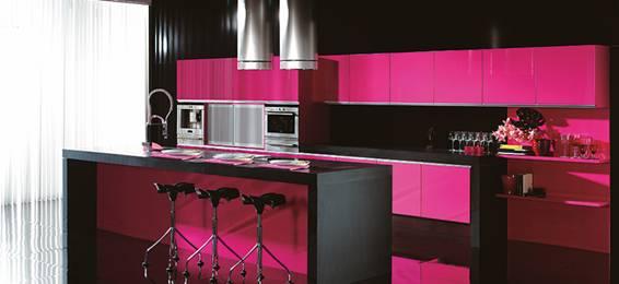 Modelo art merino zaidin for Cocinas de color rosa